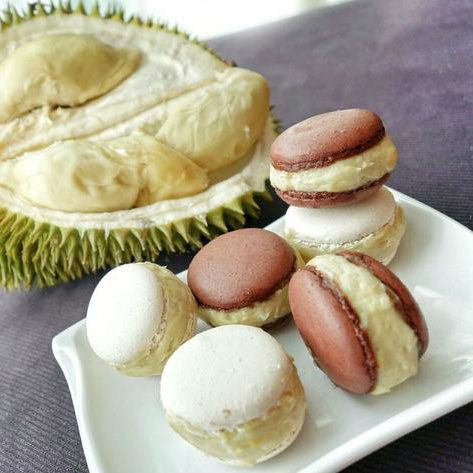 durian_macarons desserts